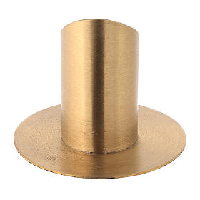 Nickel-plated brass candlestick with satin finish diameter 1 1/2 in s3