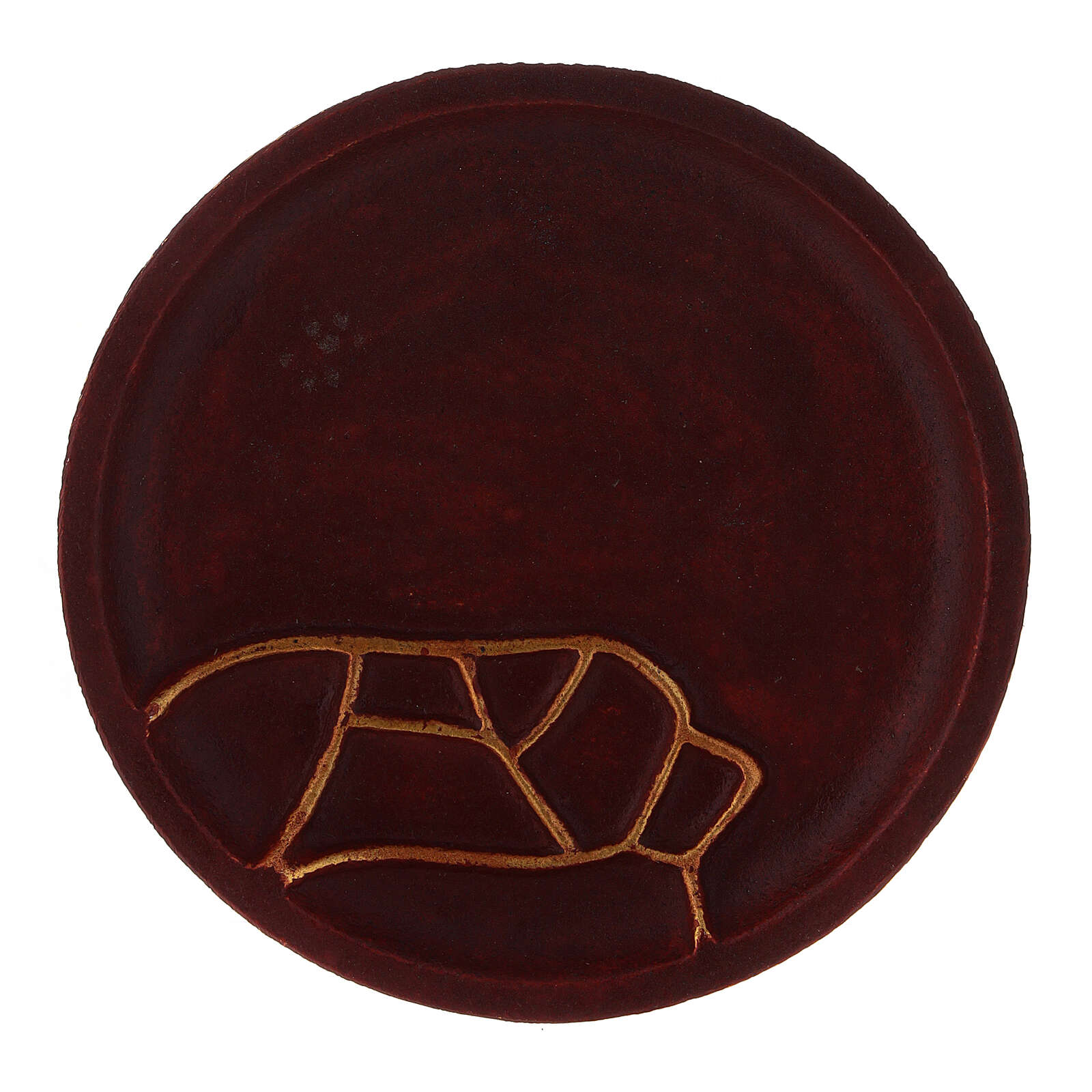 Plato portavela aluminio rojo diámetro 12 cm 3
