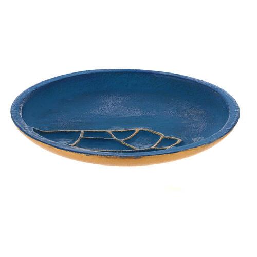 Plato para vela turquesa diámetro 12 cm 1