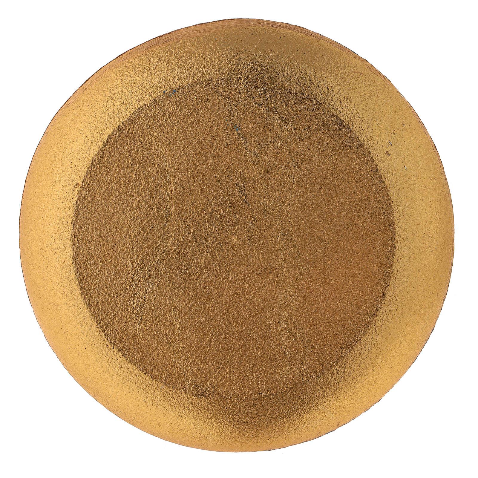 Piatto per candela turchese diametro 12 cm 3