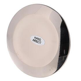 Assiette pour bougie irrégulière pique diam. 9 cm laiton nickelé s3