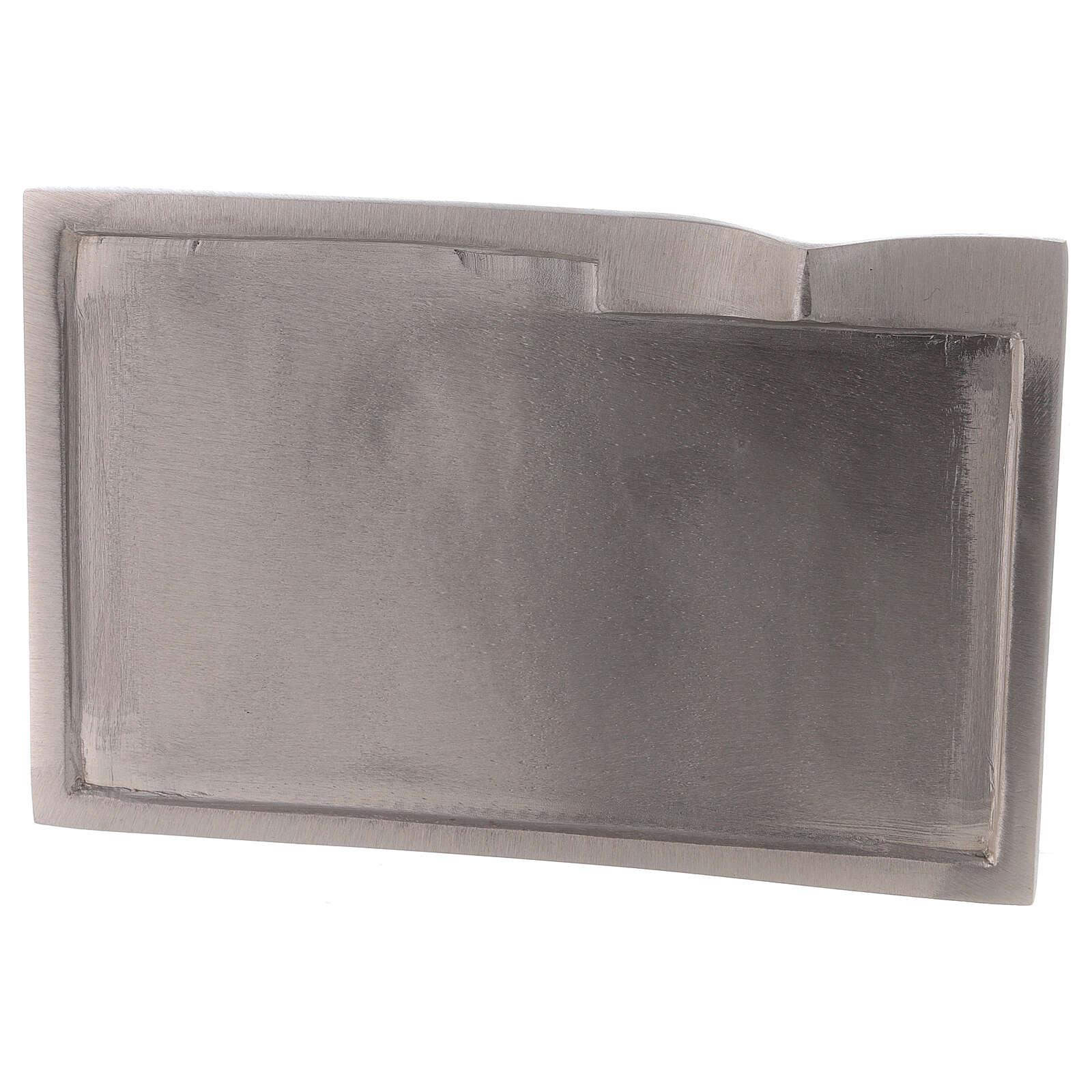 Plato para vela rectangular detalle elevado 16x9 cm 3