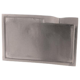 Plato para vela rectangular detalle elevado 16x9 cm s2