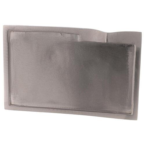Plato para vela rectangular detalle elevado 16x9 cm 2