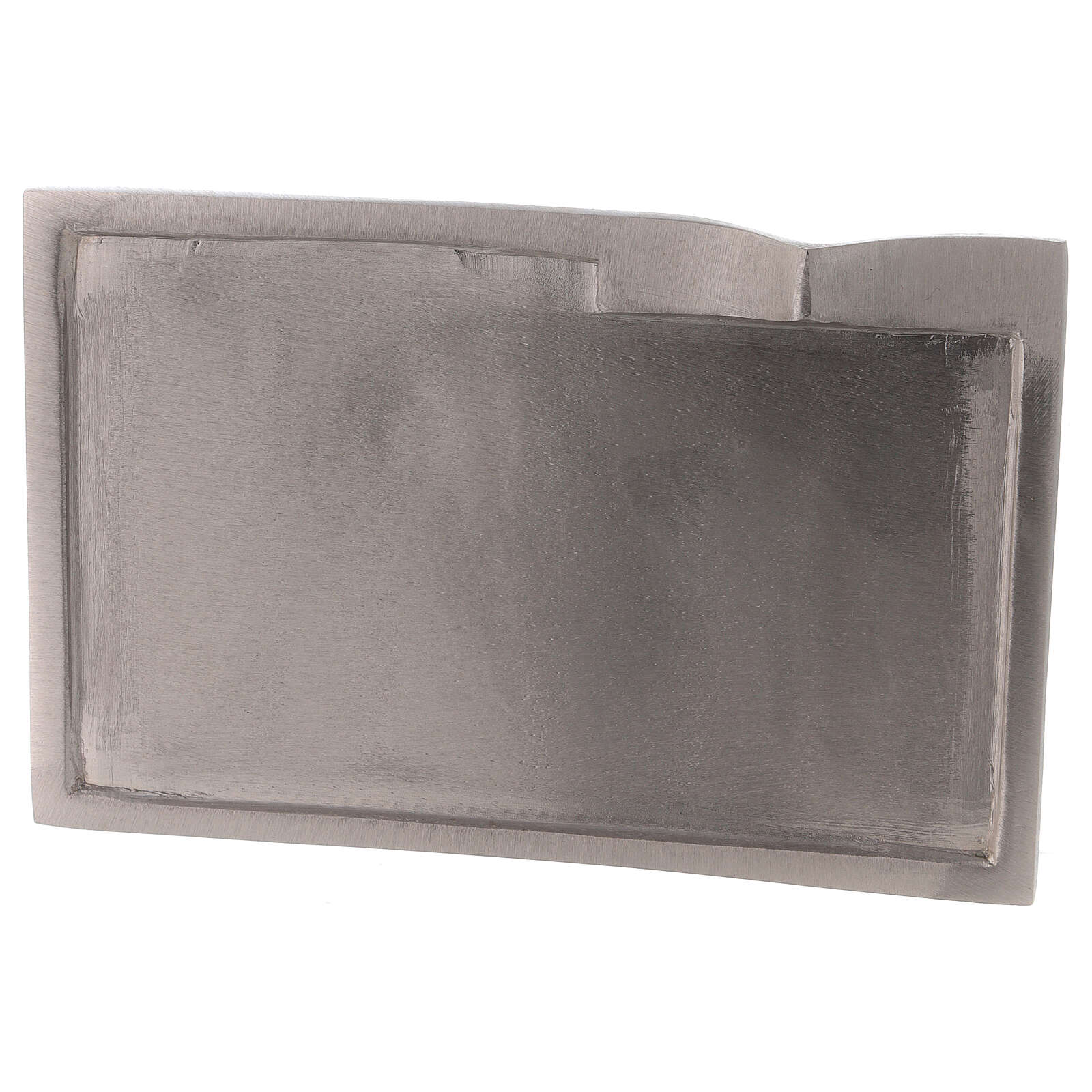 Rectangular plate for candles raised detail 6 1/4x3 1/2 in 3