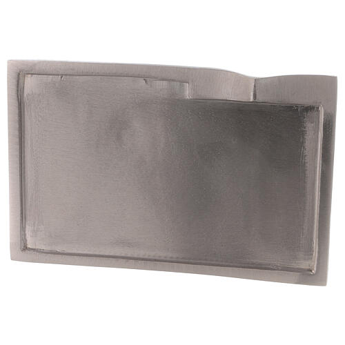 Rectangular plate for candles raised detail 6 1/4x3 1/2 in 2