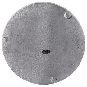 Plato portavela aluminio satinado redondo d. 19 cm s3