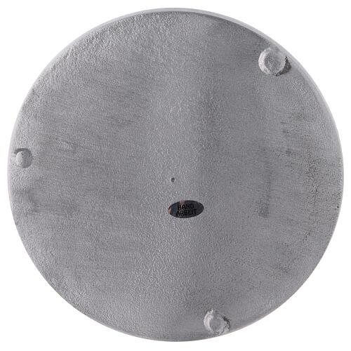 Plato portavela aluminio satinado redondo d. 19 cm 3