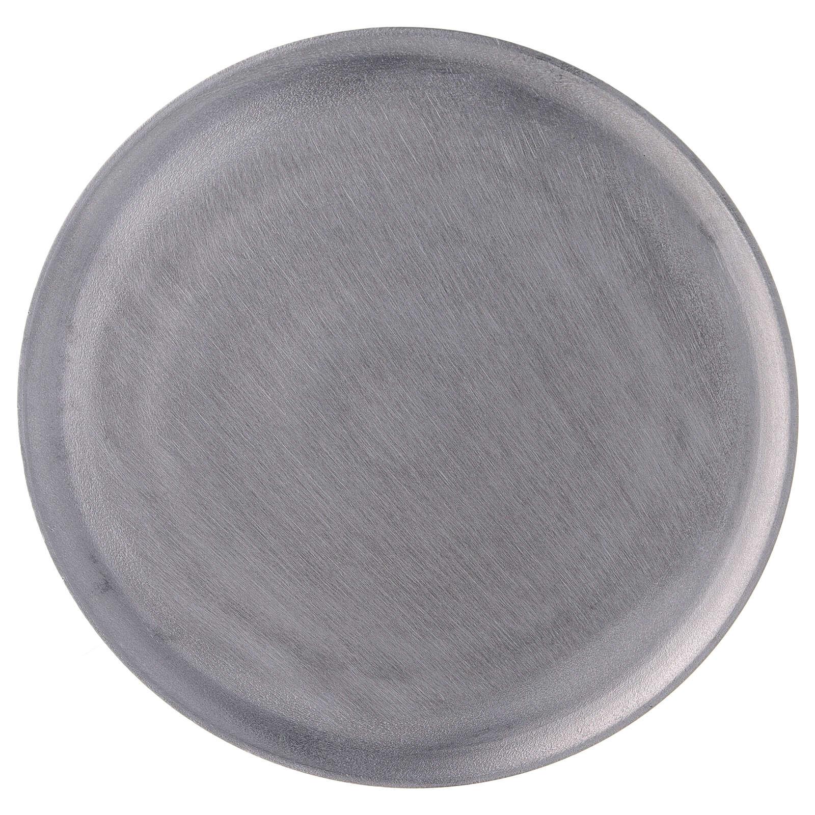 Piatto portacandela alluminio satinato tondo d. 19 cm 3