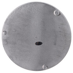 Piatto portacandela alluminio satinato tondo d. 19 cm s3