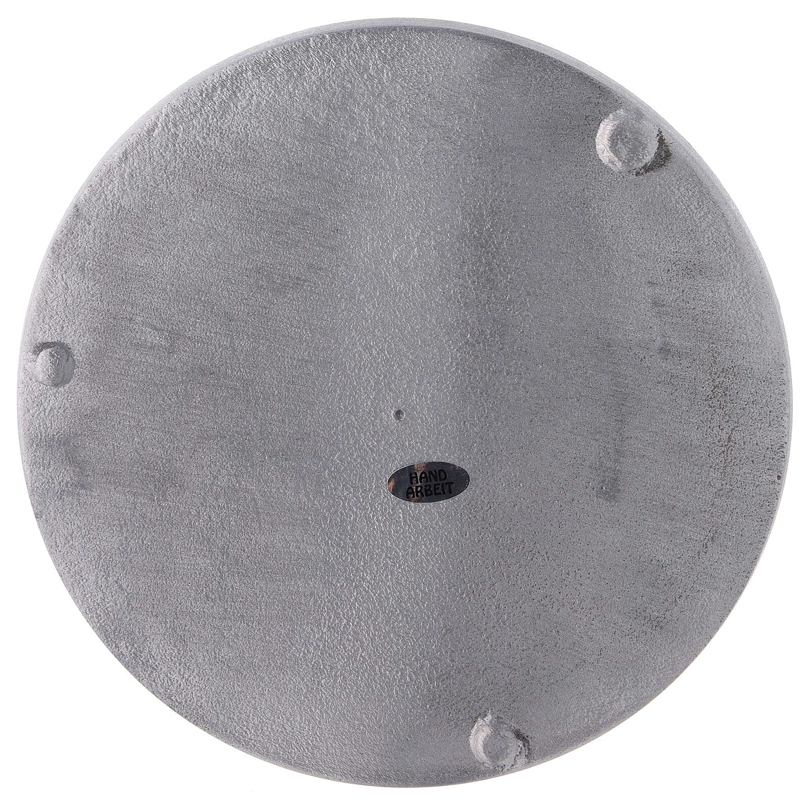 Round candle holder plate in satin finish aluminium d. 7 1/2 in 3