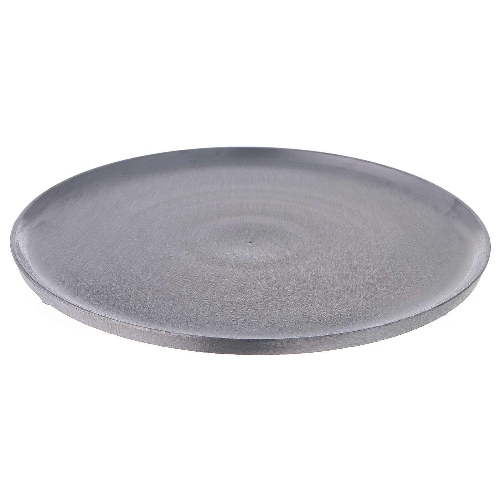 Plato redondo aluminio satinado diámetro 21 cm 3