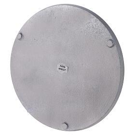 Plato redondo aluminio satinado diámetro 21 cm s3