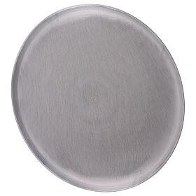 Piatto tondo alluminio satinato diametro 21 cm s2