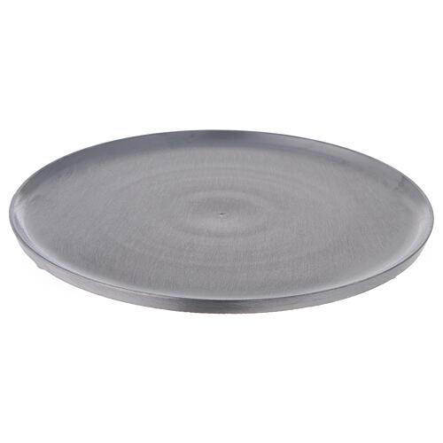 Piatto tondo alluminio satinato diametro 21 cm 1