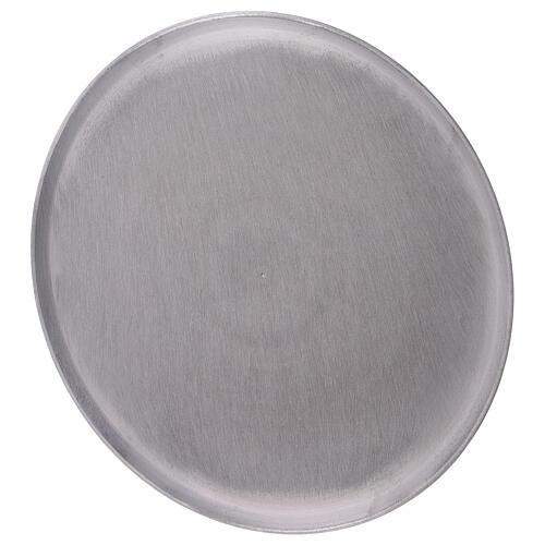 Piatto tondo alluminio satinato diametro 21 cm 2