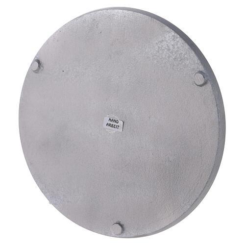 Piatto tondo alluminio satinato diametro 21 cm 3