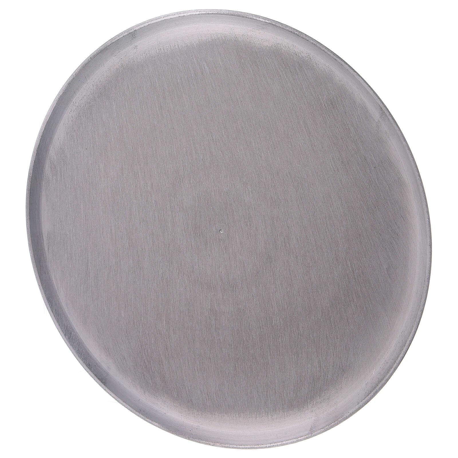 Round plate satin finish aluminium diameter 8 1/4 in 3