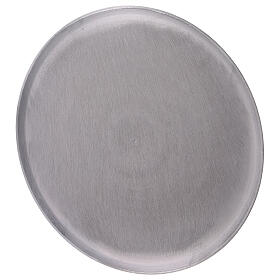Round plate satin finish aluminium diameter 8 1/4 in s2