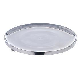 Plato portavela aluminio lúcido 17 cm diámetro s1