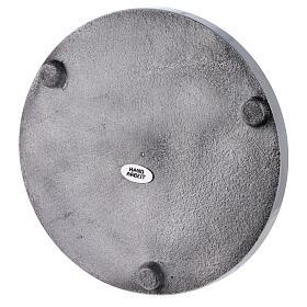 Plato portavela aluminio lúcido 17 cm diámetro s3