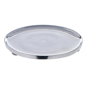 Polished aluminium candle holder plate diameter 6 3/4 in s1