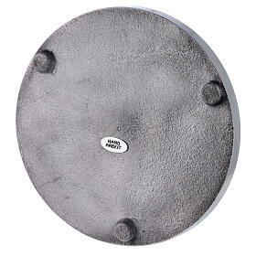 Polished aluminium candle holder plate diameter 6 3/4 in s3