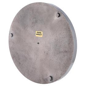 Plato para vela aluminio lúcido 19 cm s3
