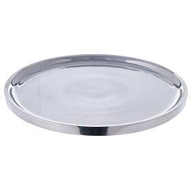 Piatto per candela alluminio lucido 19 cm s1