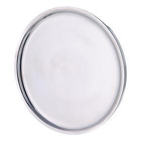Piatto per candela alluminio lucido 19 cm s2