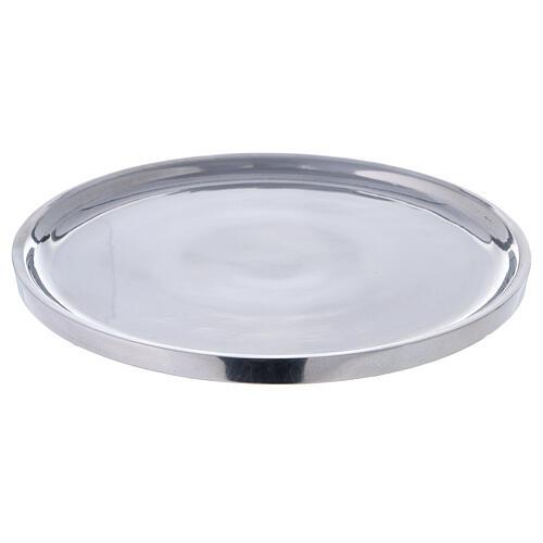 Piatto per candela alluminio lucido 19 cm 1