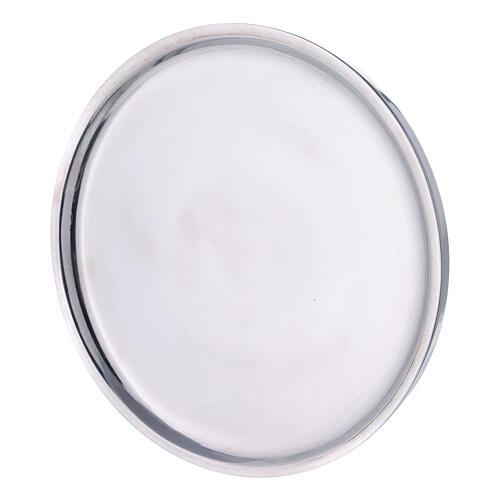 Piatto per candela alluminio lucido 19 cm 2