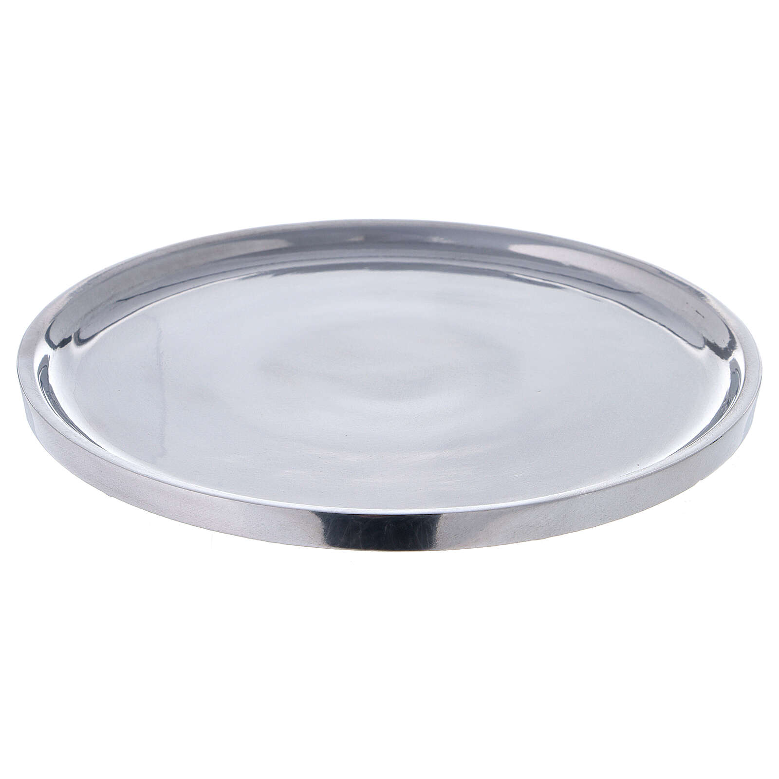 Polished aluminium plate for candles 7 1/2 in 3