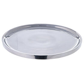 Polished aluminium plate for candles 7 1/2 in s1
