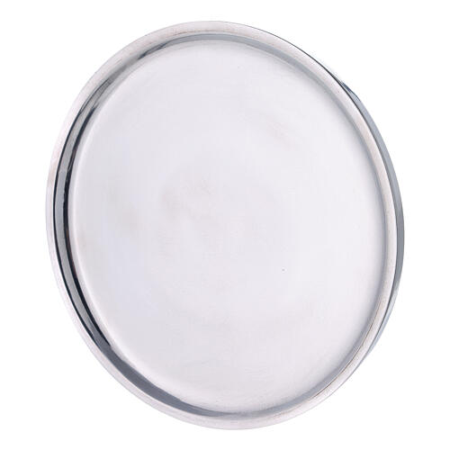 Polished aluminium plate for candles 7 1/2 in 2