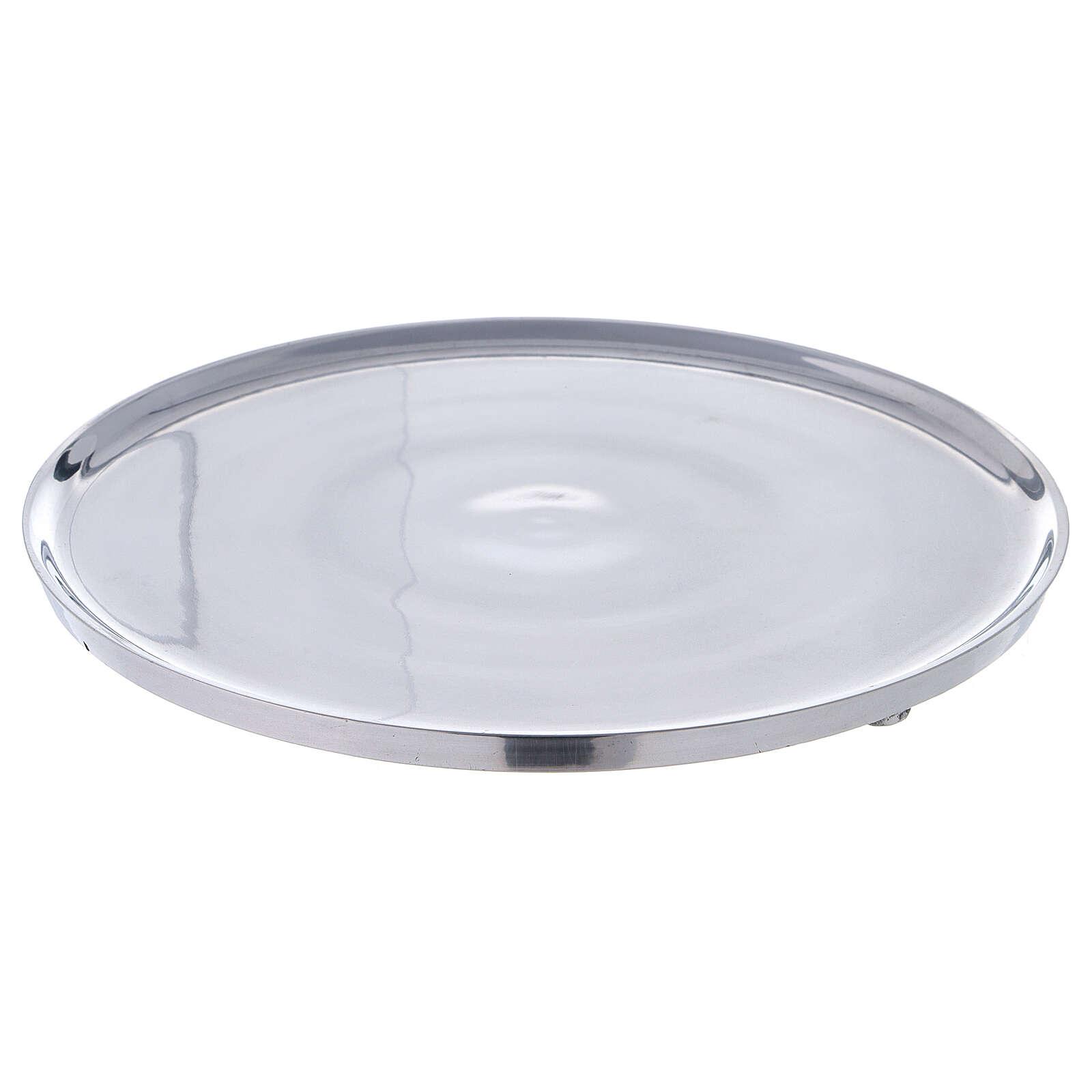 Plato portavela 21 cm aluminio bordes elevados 3