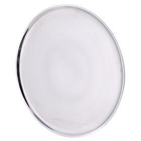 Piatto portacandela 21 cm alluminio bordi rialzati s2