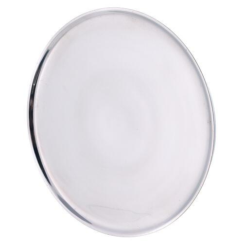 Piatto portacandela 21 cm alluminio bordi rialzati 2