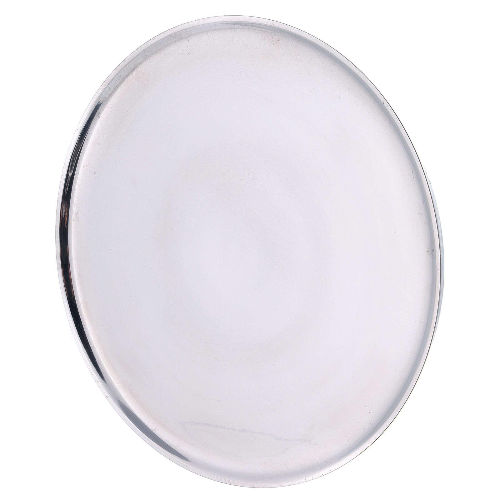 Aluminium candle holder plate 8 1/4 in raised edge 3