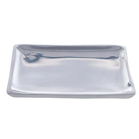 Assiette carrée bougie 11x11 cm brillante s1