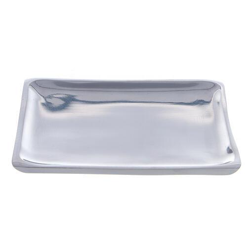 Assiette carrée bougie 11x11 cm brillante 1