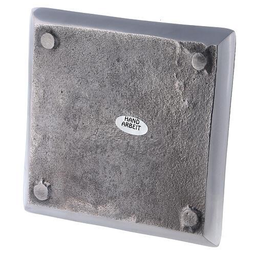 Assiette carrée bougie 11x11 cm brillante 3
