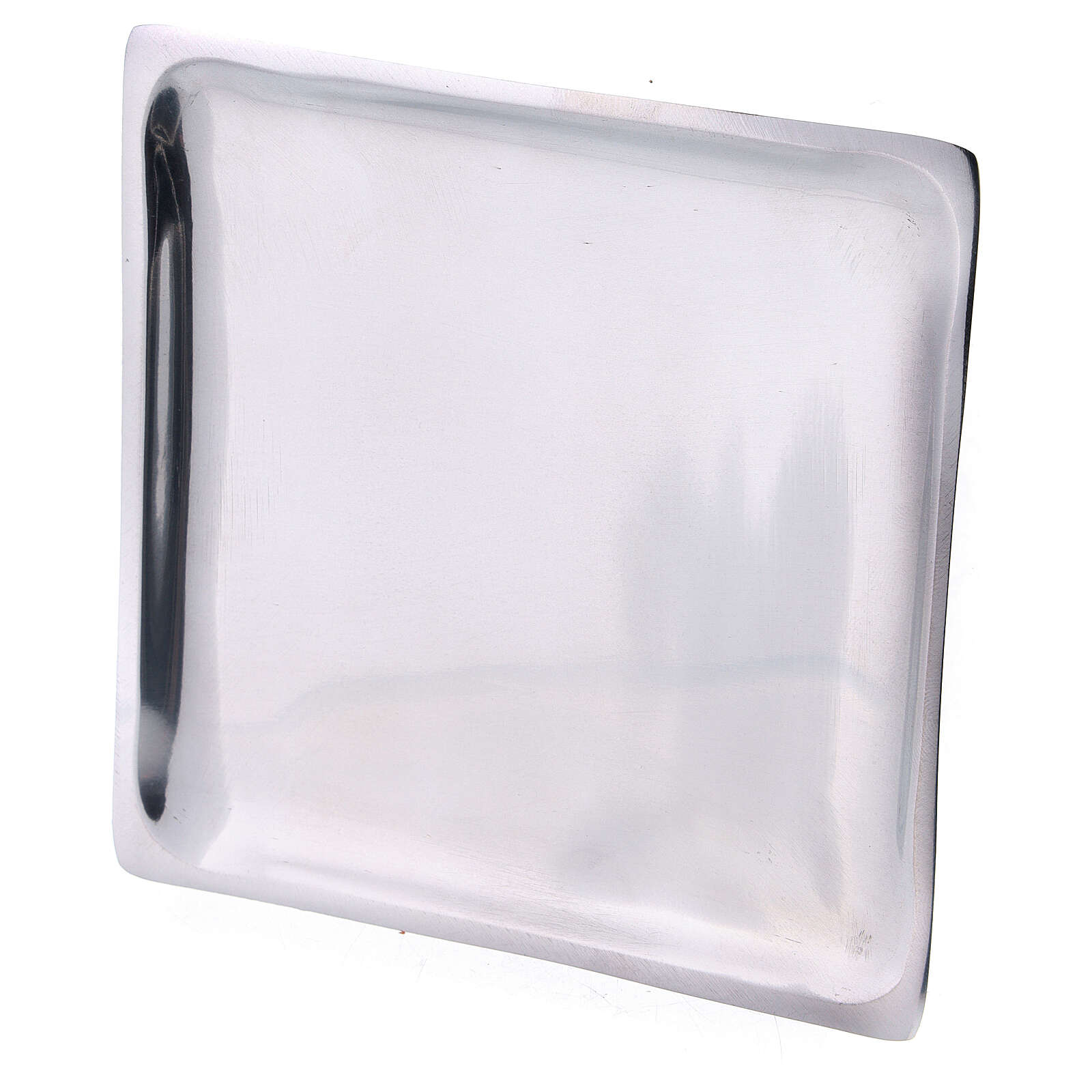 Square plate for candles 4 1/4x4 1/4 in polished finish 3