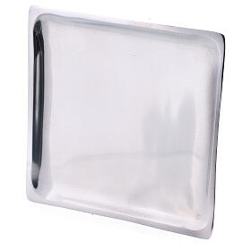 Square plate for candles 4 1/4x4 1/4 in polished finish s2