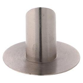 Porte-cierge laiton nickelé satiné 3 cm oblique s3
