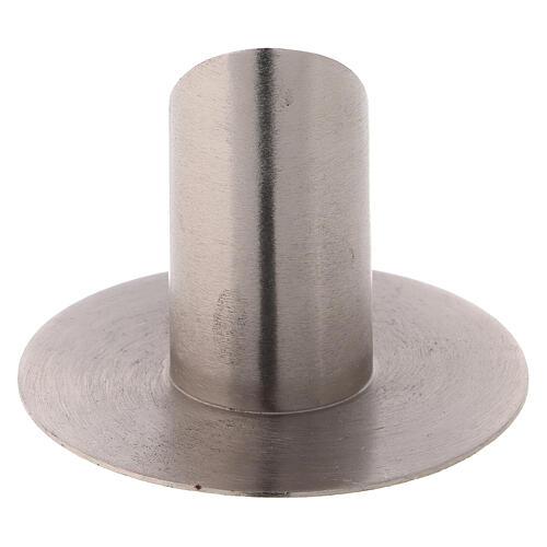 Porte-cierge laiton nickelé satiné 3 cm oblique 3