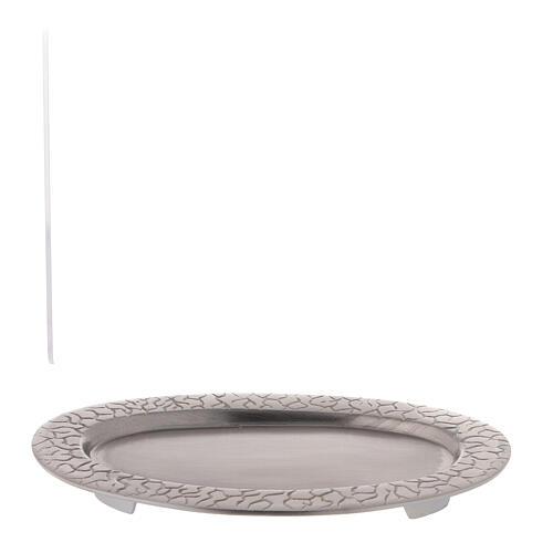 Assiette pour bougie ovale décoration racines 17x7 cm 4