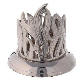 Portavela llamas latón niquelado diámetro 6 cm s3