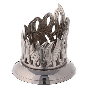 Bougeoir flamme laiton nickelé diamètre 6 cm s2
