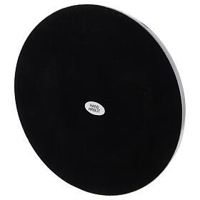 Bougeoir aluminium brillant diamètre 10 cm rond s3